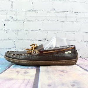 LL BEAN Casual Loafers Moccasins Slippers Size 10
